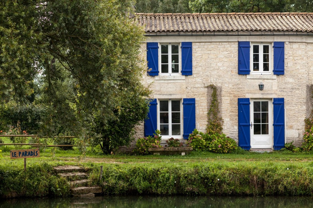 Maison dans la Venise verte, Marais Poitevin