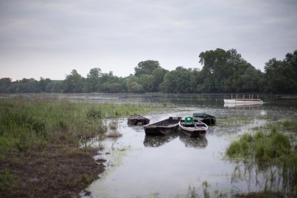 barques flottant sur la Loire